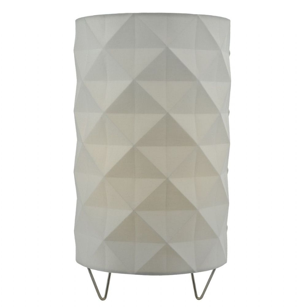 Aisha Table Lamp complete with White Shade (Class 2 Double Insulated) BXAIS412-17